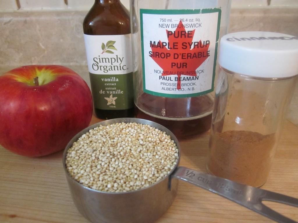 Apple Cinnamon Quinoa Porridge Recipe - ingredients