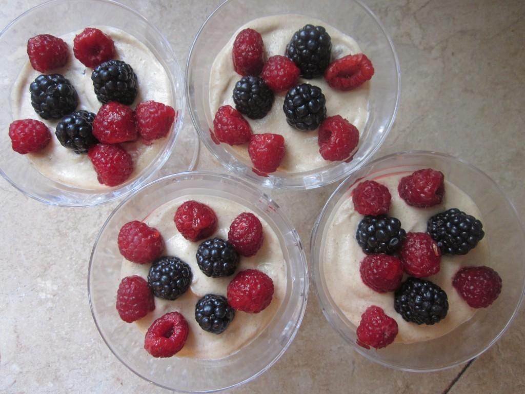 Cashew Cream Recipe in Berry Granola Parfaits - add berries