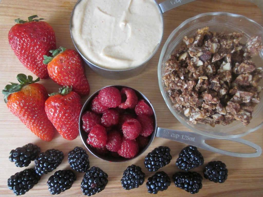 Cashew Cream Recipe in Berry Granola Parfaits - parfait ingredients