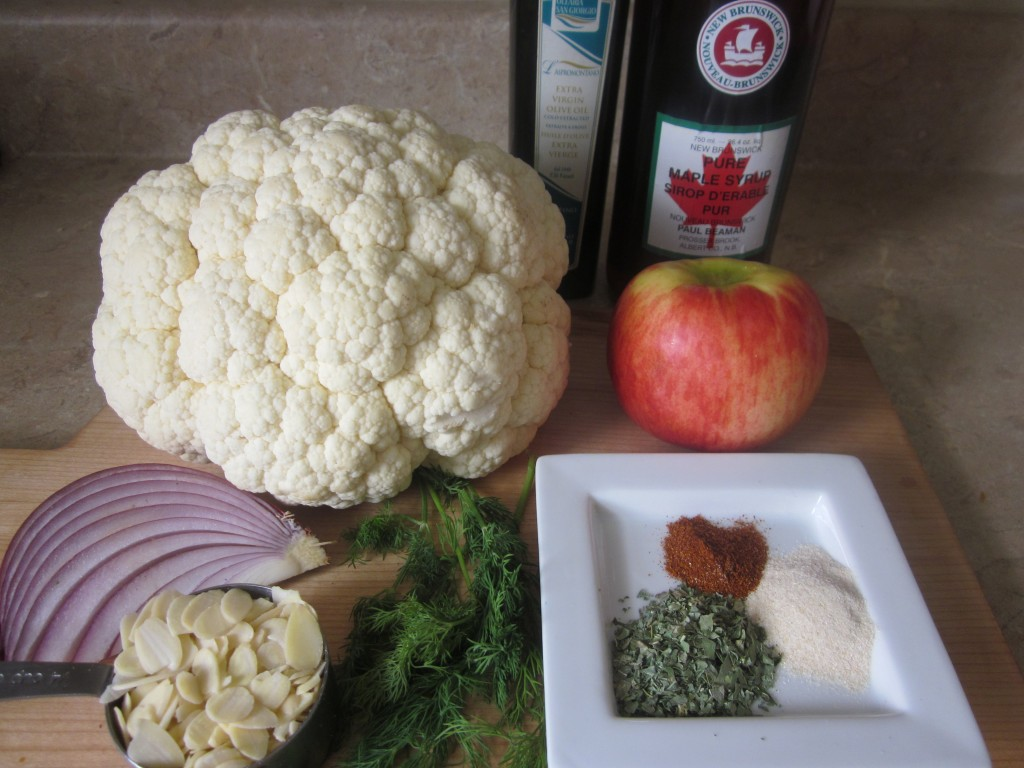Cauliflower Steaks with Apple and Dill Recipe - ingredients