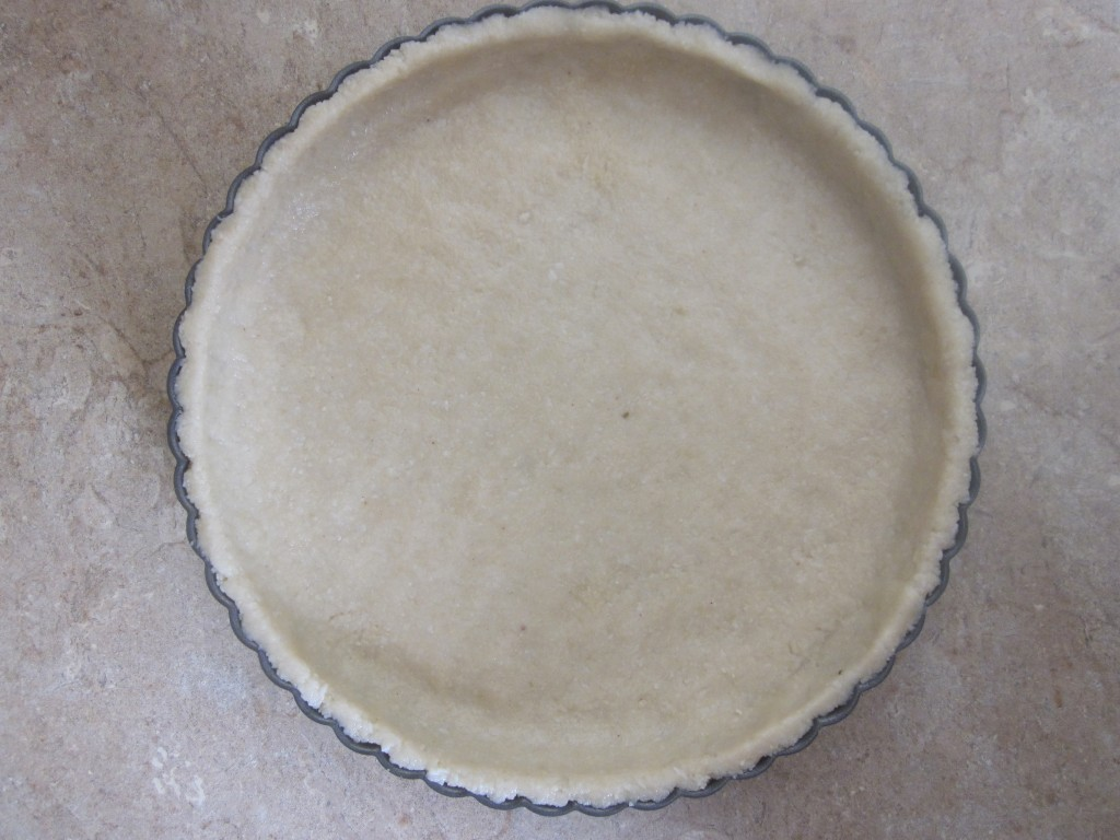 Easy Delicious No Bake Key Lime Pie Recipe - crust in pan