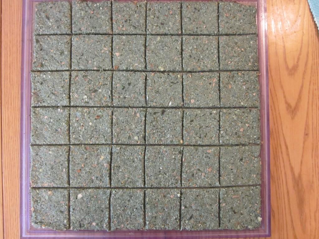 Green Chia Nut Crackers Recipe - scored on teflex