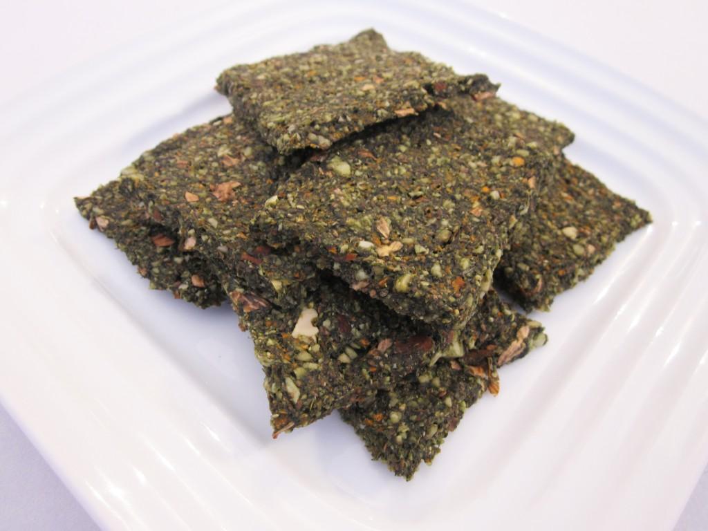 Green Chia Nut Crackers Recipe