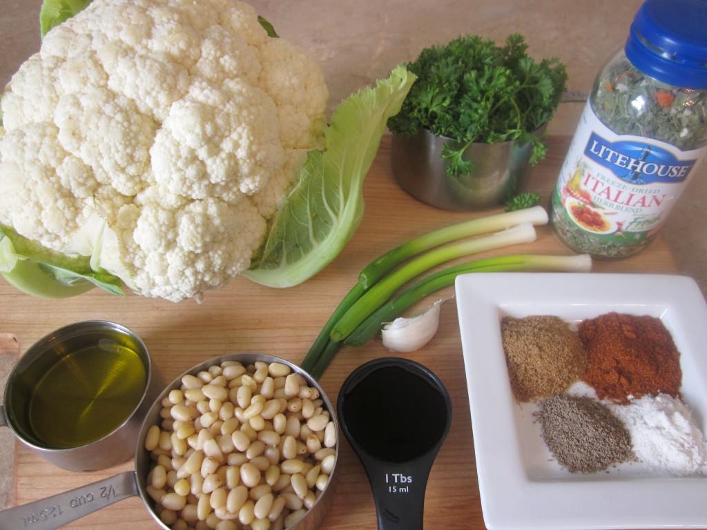 Herbed Cauliflower Couscous Recipe ingredients