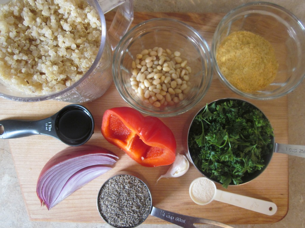 Quinoa Cakes Recipe ingredients