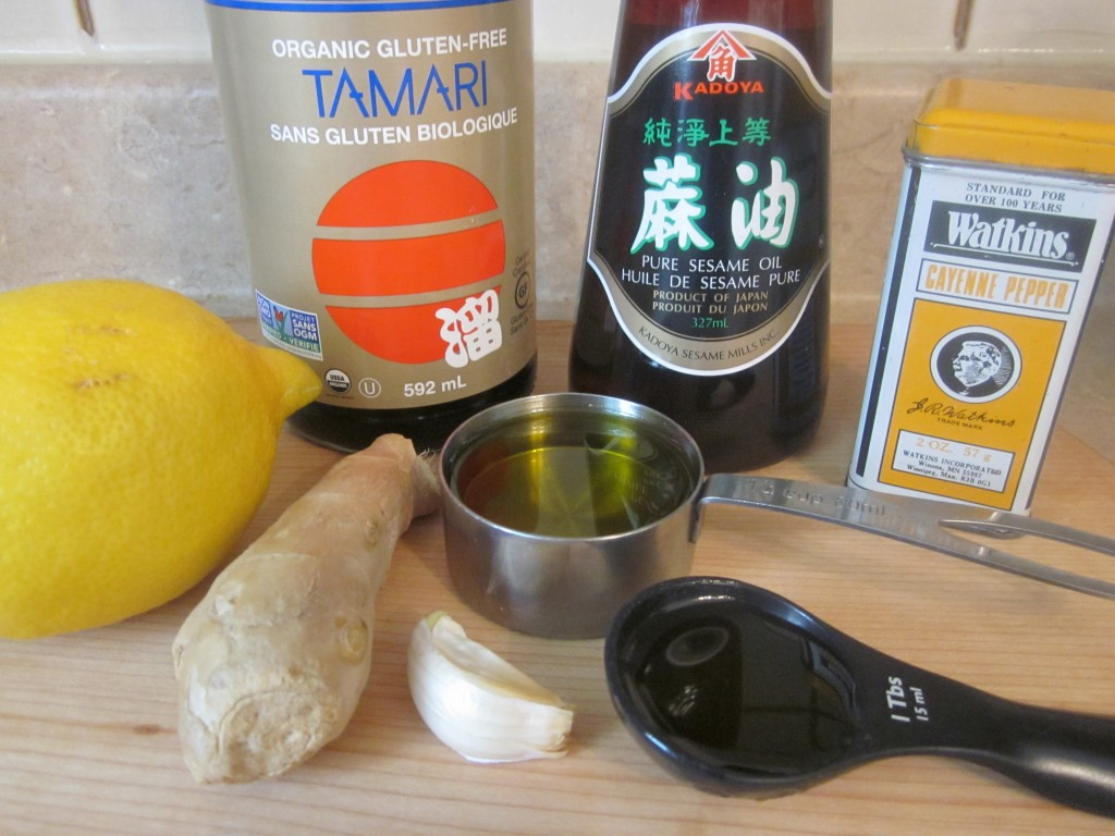 Sesame Ginger Dressing - ingredients