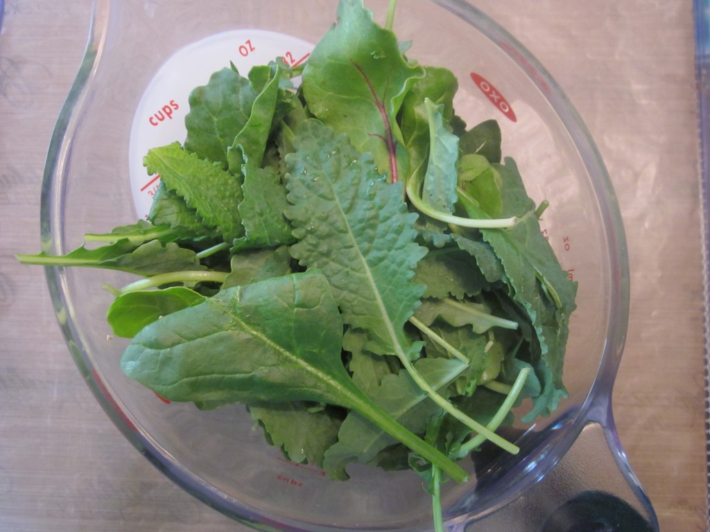 Wilted Southern Greens Recipe - 4 cups of greens