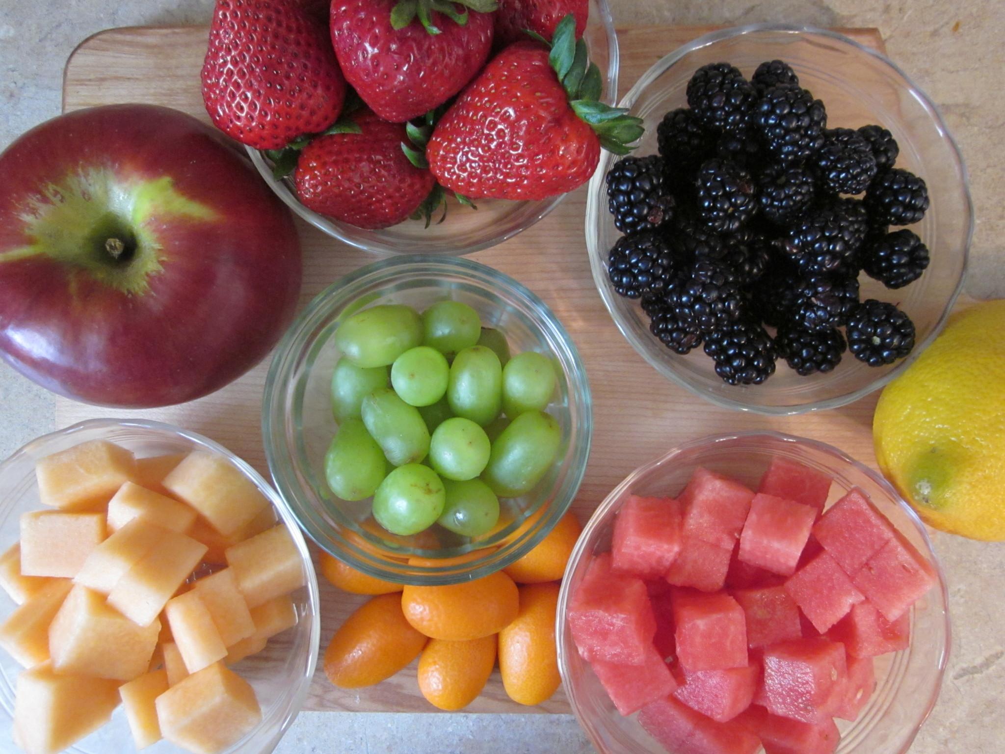 Bliss Fresh Fruit Salad Recipe with Spiralized AppleRobins Key