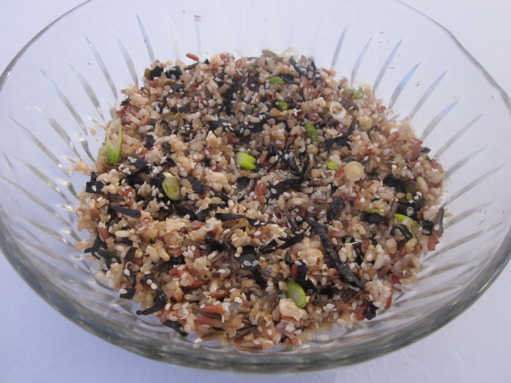 Brown Rice and Quinoa with Nori and Sesame Recipe in bowl