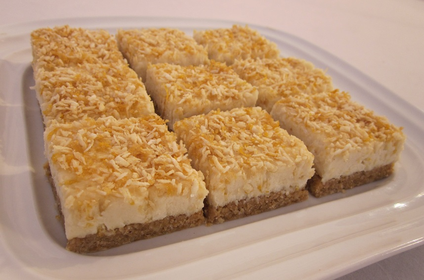 Luscious Vegan Lemon Squares Recipe plated