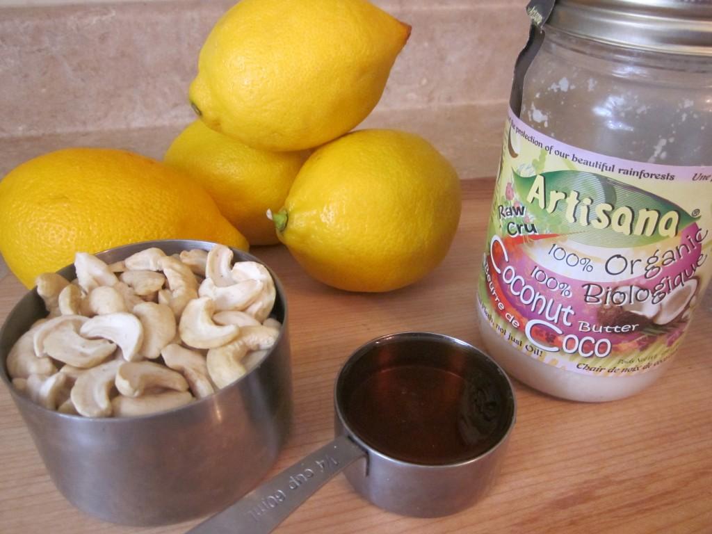 Luscious Vegan Lemon Squares Recipe - filling ingredients