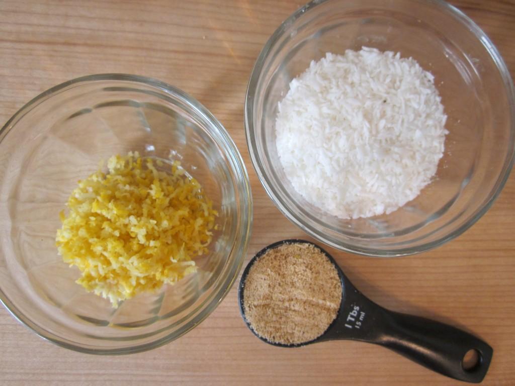 Luscious Vegan Lemon Squares Recipe - topping ingredients