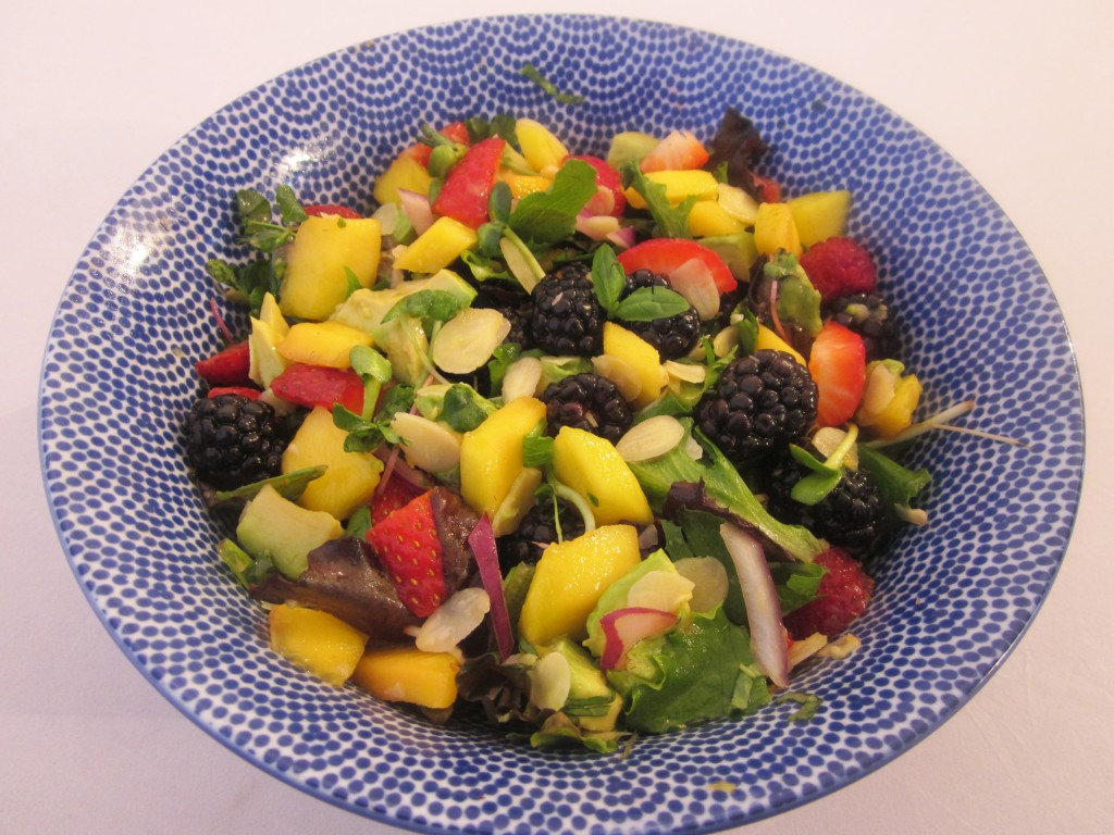 Mango Berry Avocado Salad Recipe with Light Citrus Dressing dessing