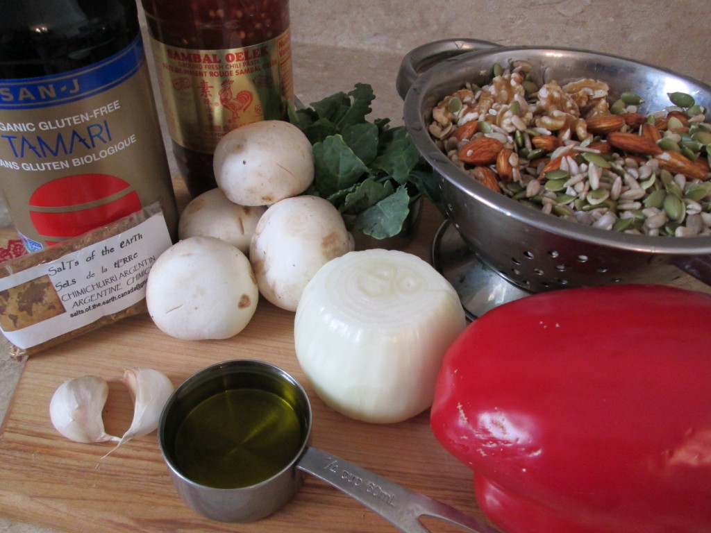 Nutmeat Patties Recipe ingredients