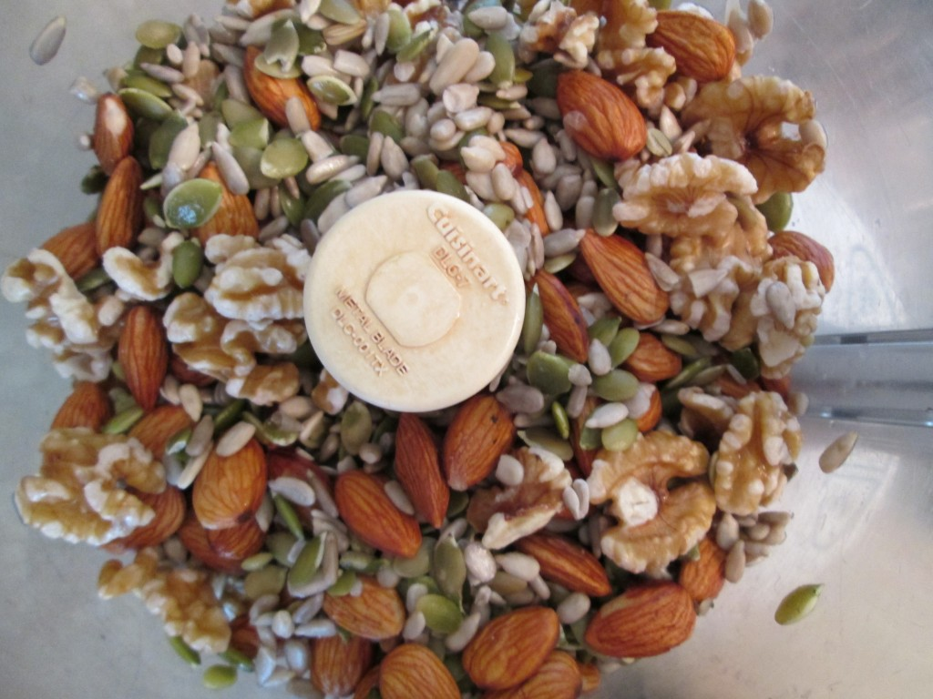 Nutmeat Patties Recipe nuts and seeds in processor