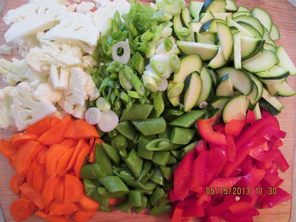 Softened Vegetables in a Spicy Mango Pineapple Sauce Recipe - vegetables.chopped