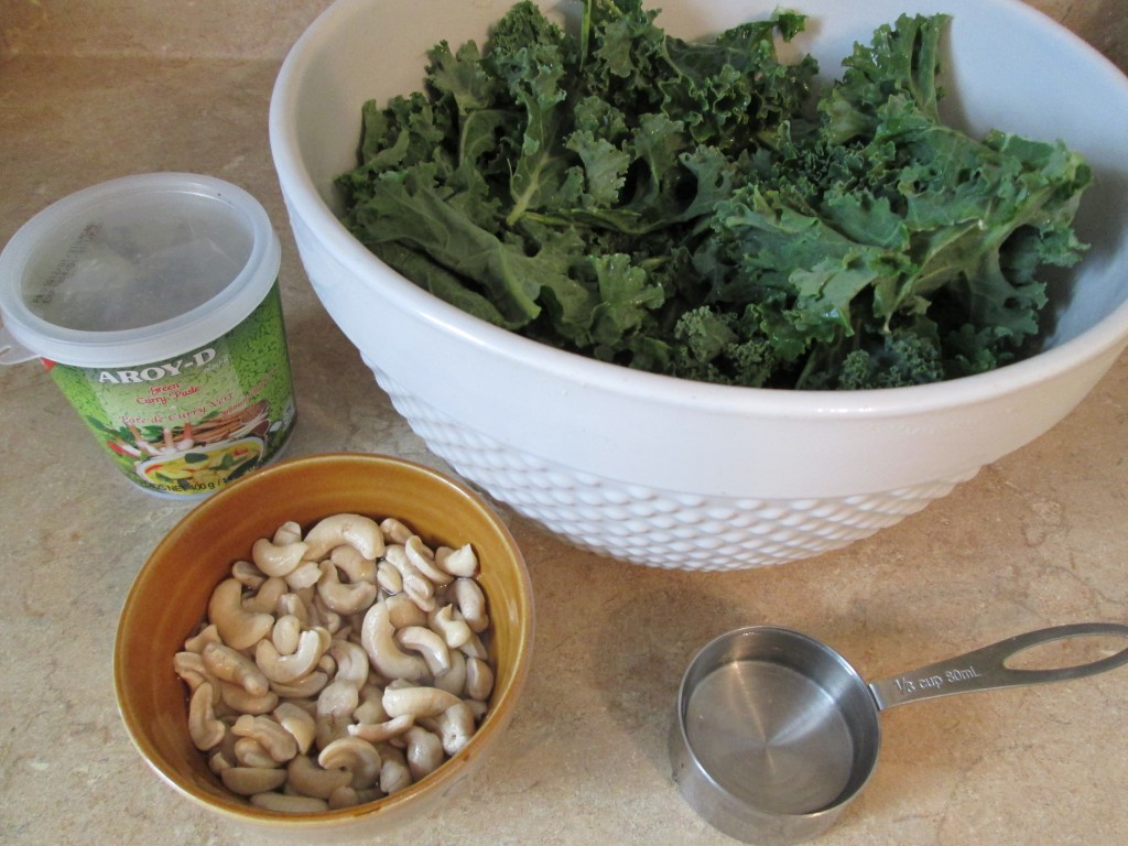 Green Curry Kale Chips - ingredients