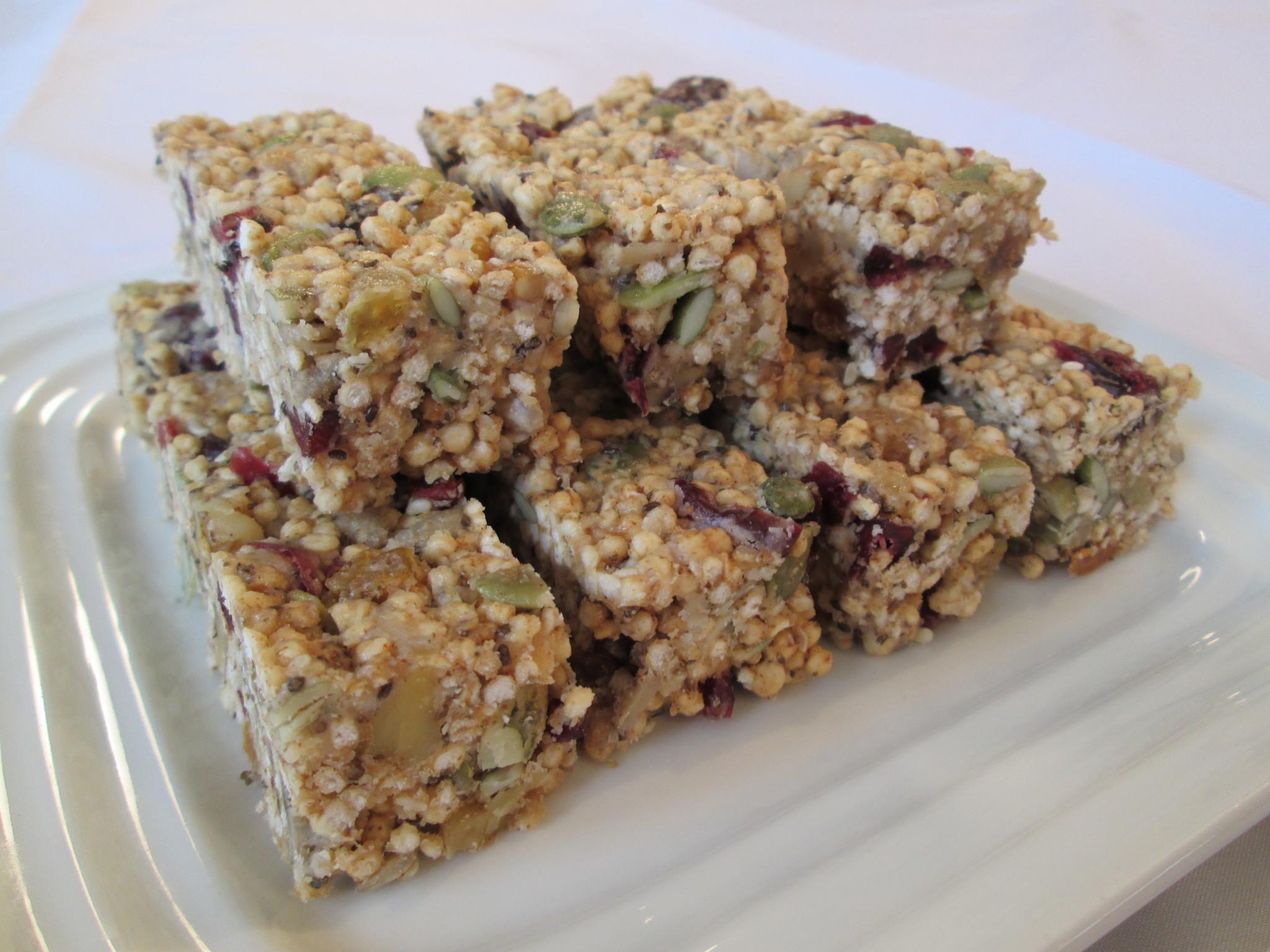 Puffed Quinoa Energy Bars Reciperobins Key