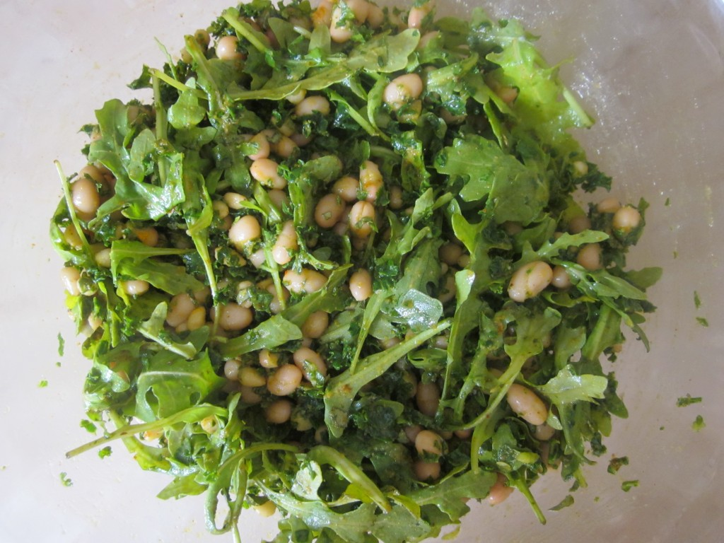 White Beans and Pine Nuts with Arugula and Kale Recipe 4