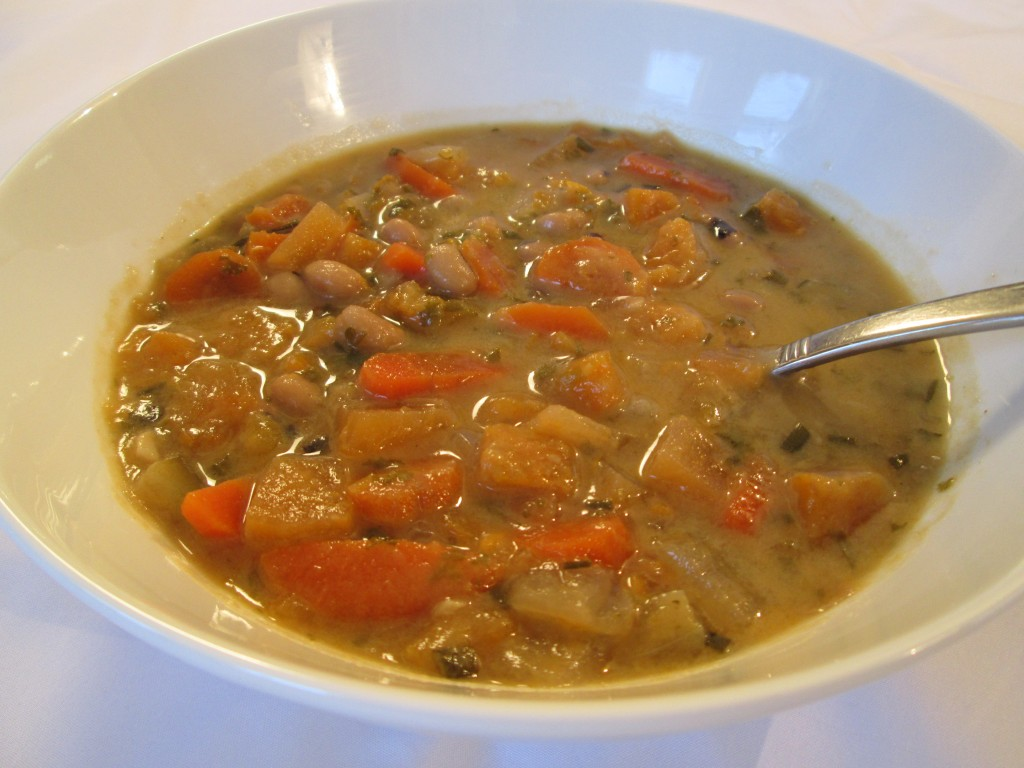 Creamy Sweet Potato Black Eyed Peas Soup Recipe