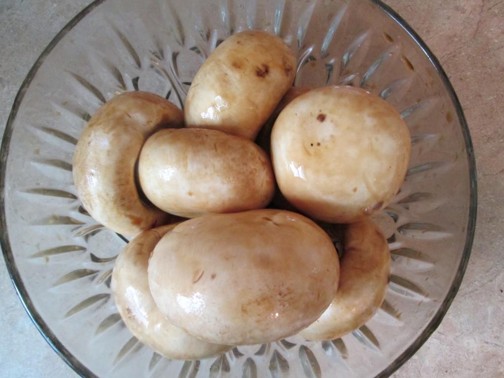 Dehydrated Stuffed Mushroom Caps Recipe - marinate mushroom caps
