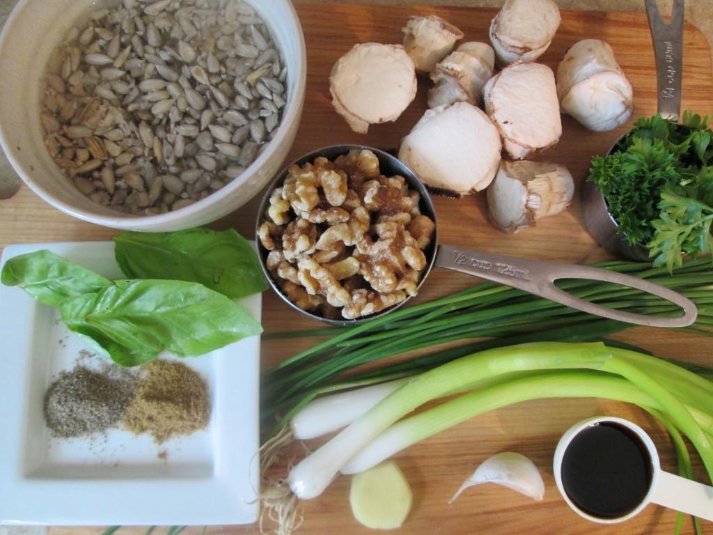 Dehydrated Stuffed Mushroom Caps Recipe - savory pate stuffing