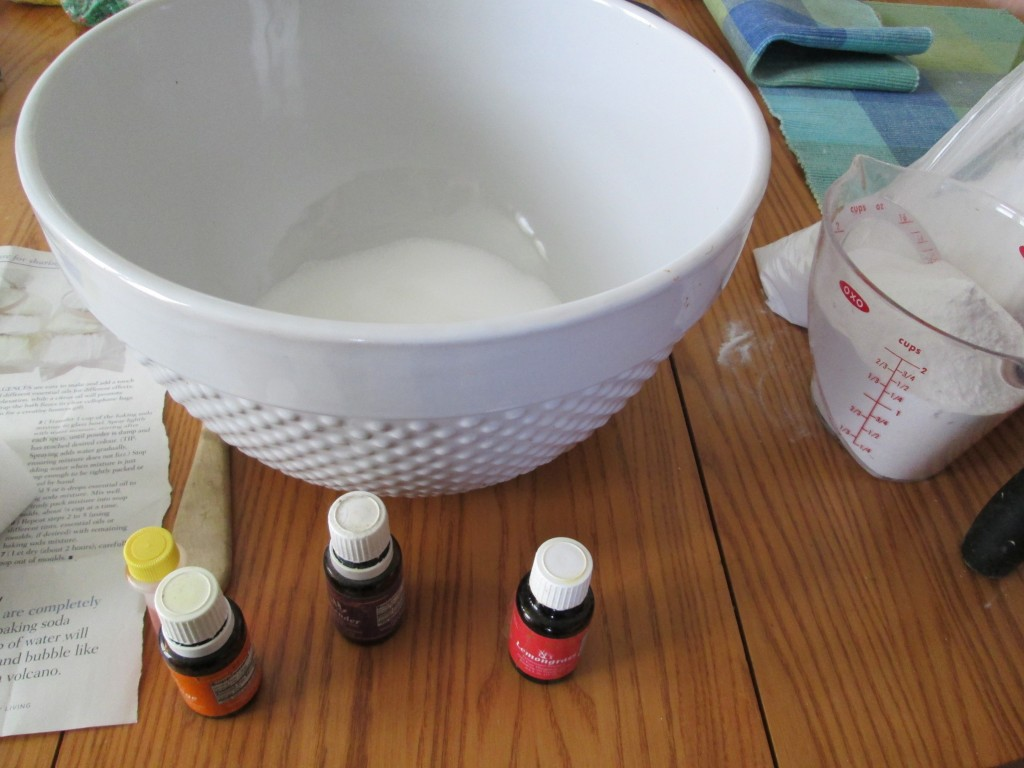 How to make Bath bombs recipe 1 - measuring out ingredients