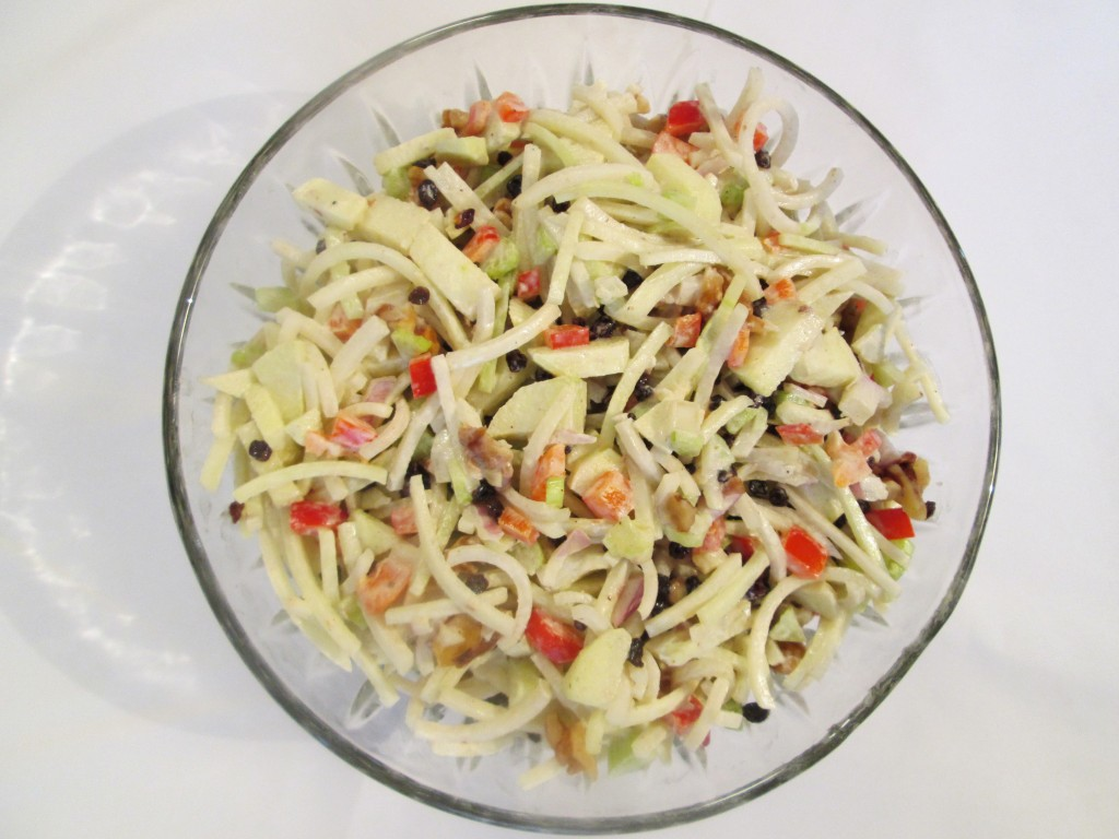 Creamy Kohlrabi Salad Recipe in bowl