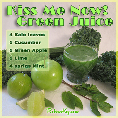 Kiss me Now Green Juice Recipe