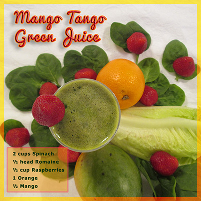 Mango Tango Green Juice Recipe
