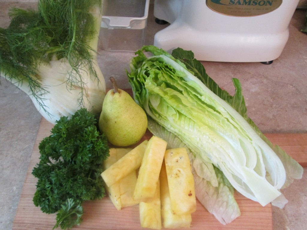 Wild Thing Green Juice Recipe - ingredients