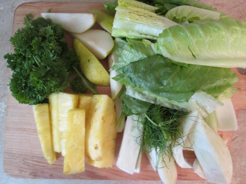Wild Thing Green Juice Recipe - ingredients prepped