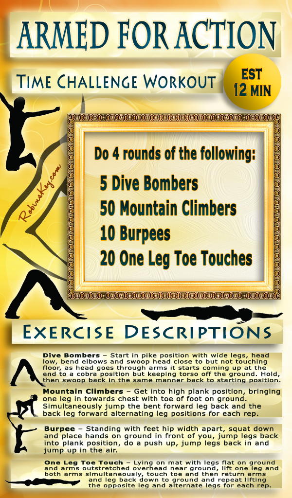 Armed for action upper body workout est 12 min robins keyrobins key