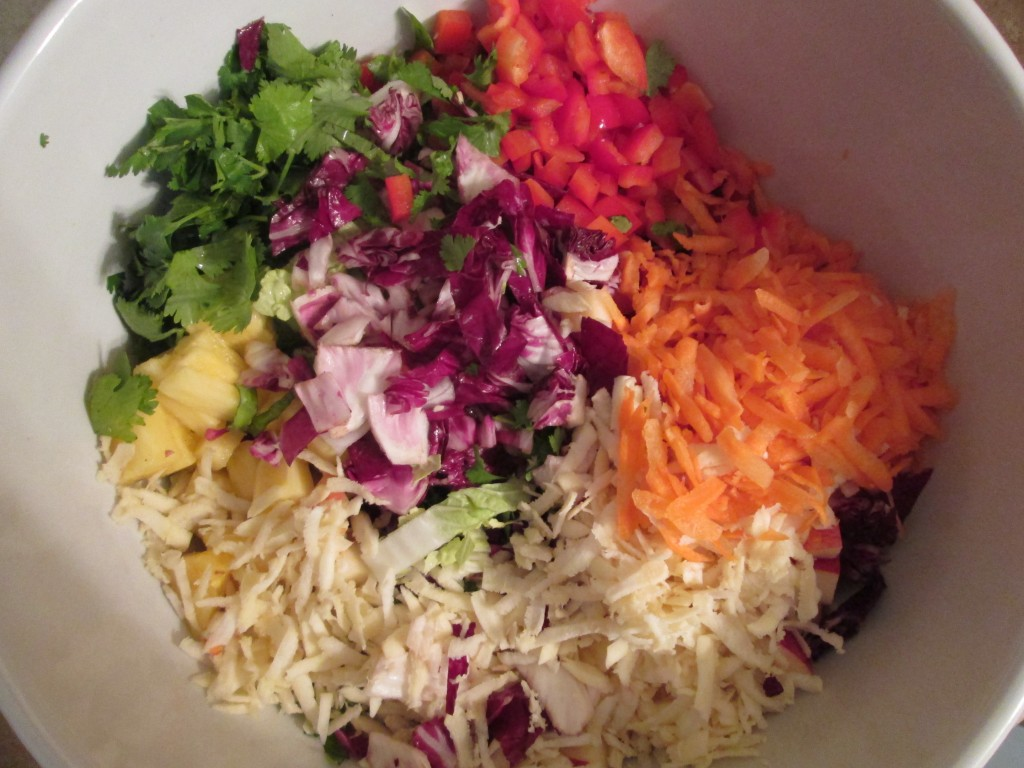 Fireworks Salad Recipe - ingredients in bowl