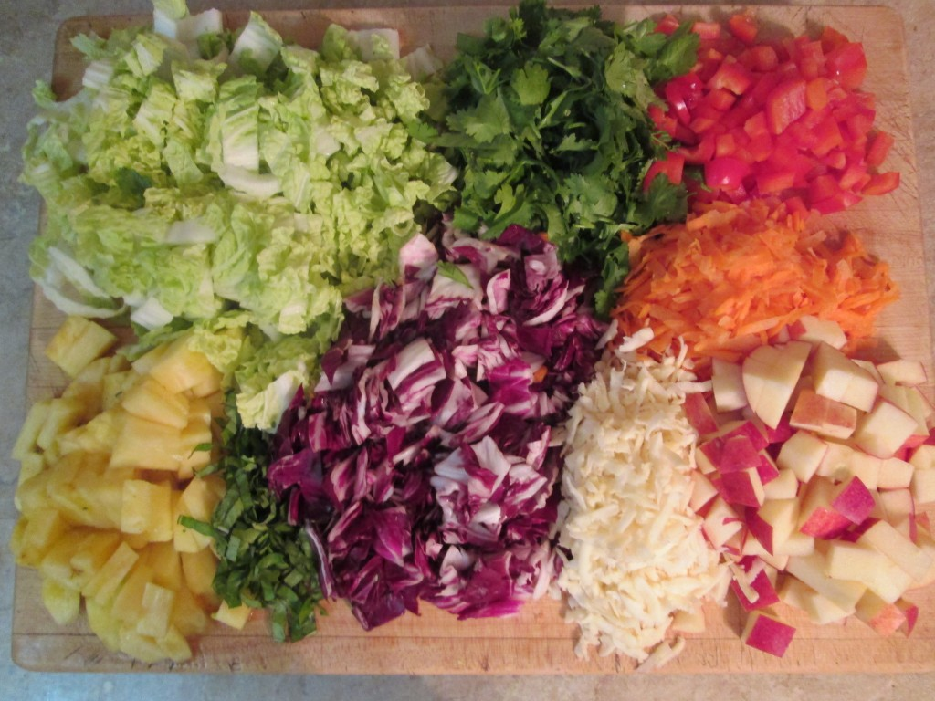 Fireworks Salad Recipe -  ingredients prepped