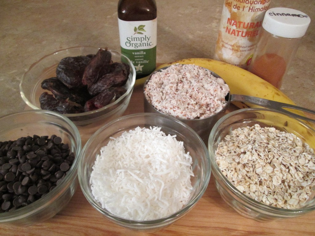 Oatmeal, Coconut Date Cookies Recipe - ingredients