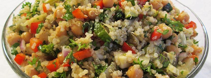 Chickpea Quinoa Salad with Roasted Vegetables 1