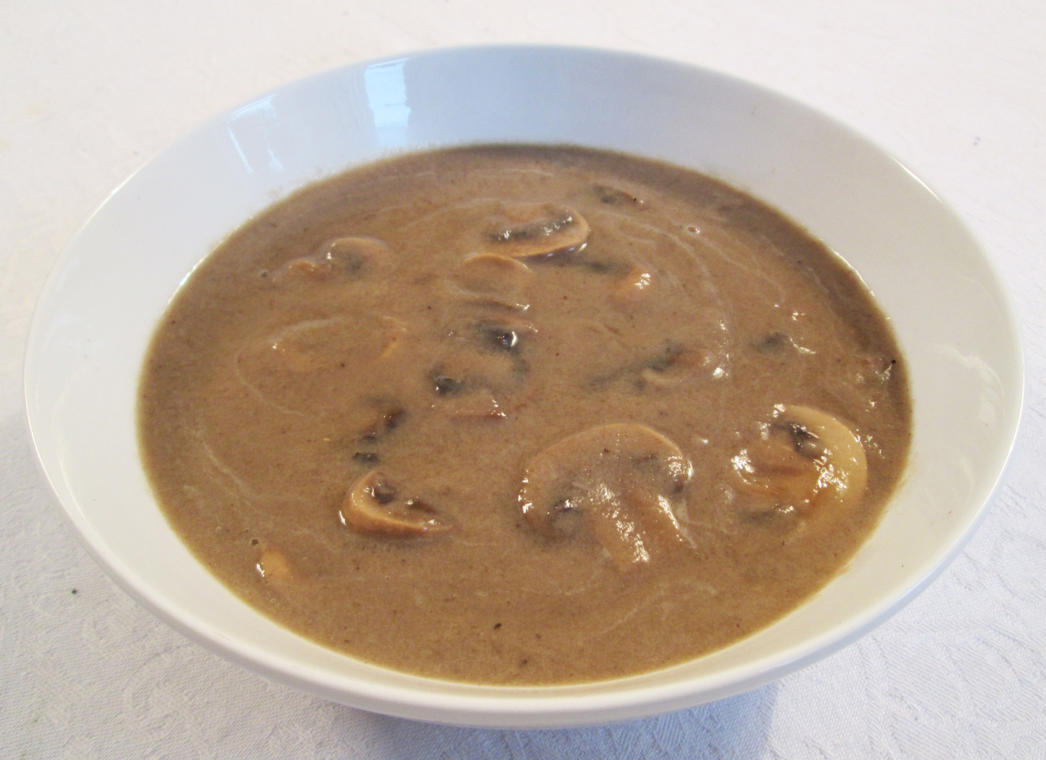cream of mushroom soup with not so vegan herb bread mushroom soup ...