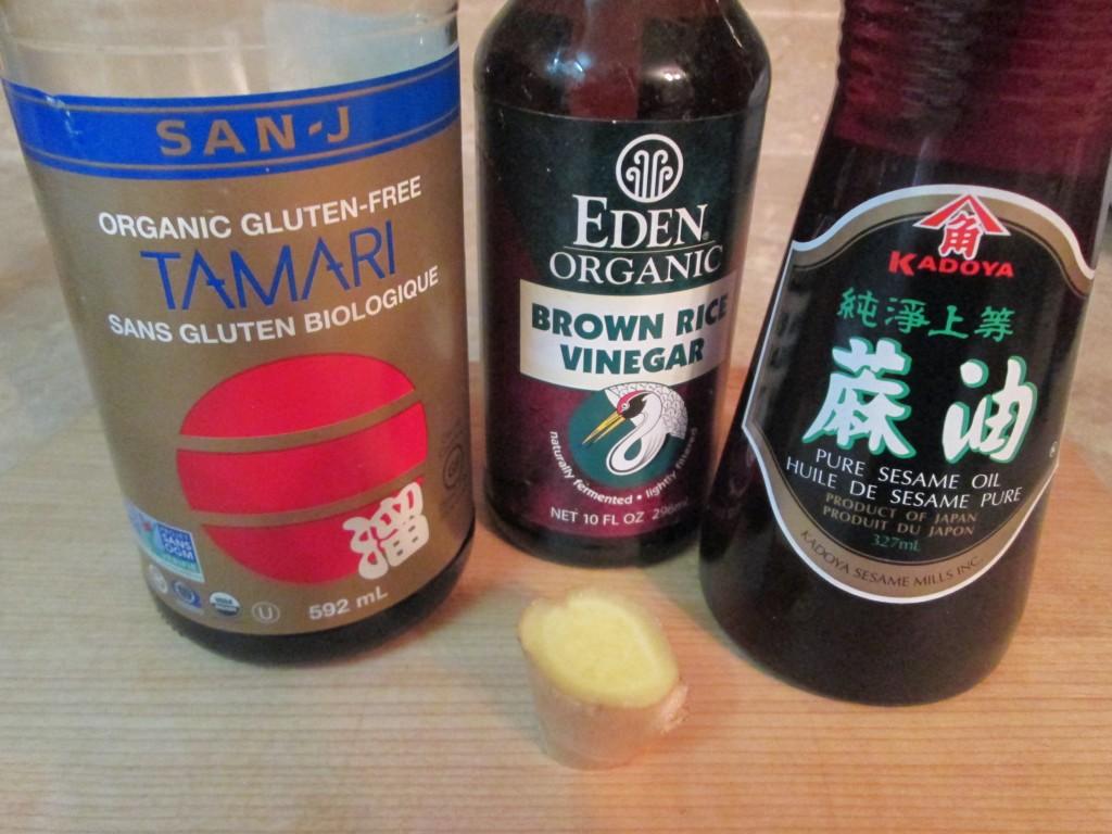 Japanese Kelp Noodles Recipe - 2 dressing ingredients