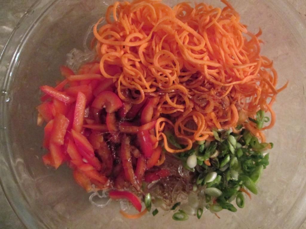 Japanese Kelp Noodles Recipe - 6 ingredients in bowl