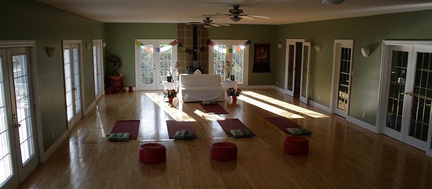 Lotus Heart Retreat Center yoga hall