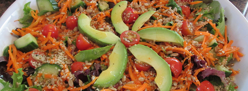14 02 06 7 Lotus Heart Center - 7 Chakras of Avocado Salad with Sweet Orange lime Dressing