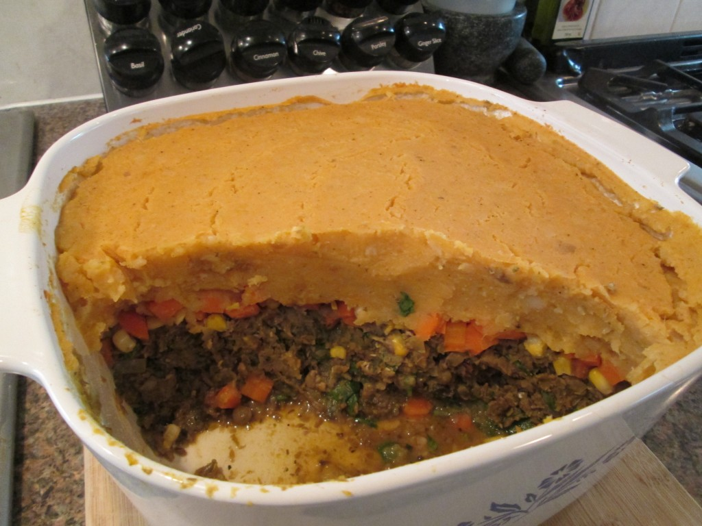 Mushroom and Lentil Shepherds Pie