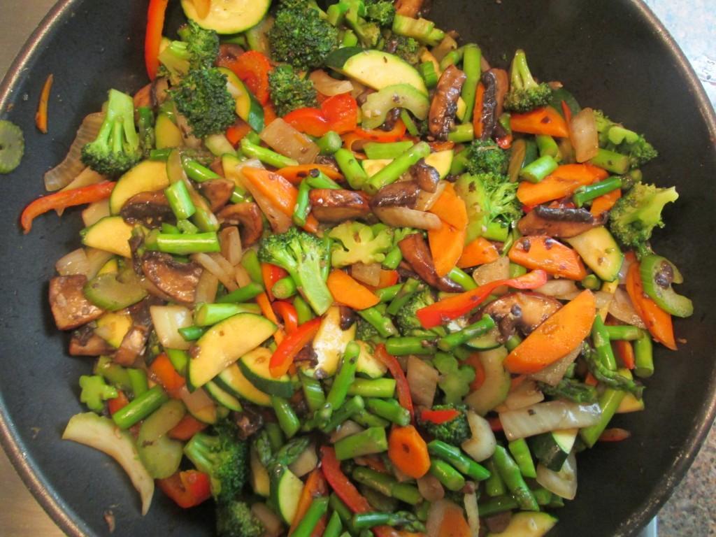 Lotus Heart Center Retreat stir fry vegetables
