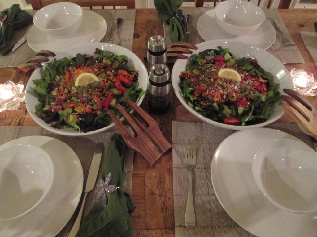 Lotus Heart Center Retreat salad