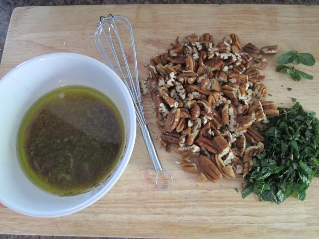 Beet and Pecan Salad on Arugula Recipe - 1 shredding beets and carrots