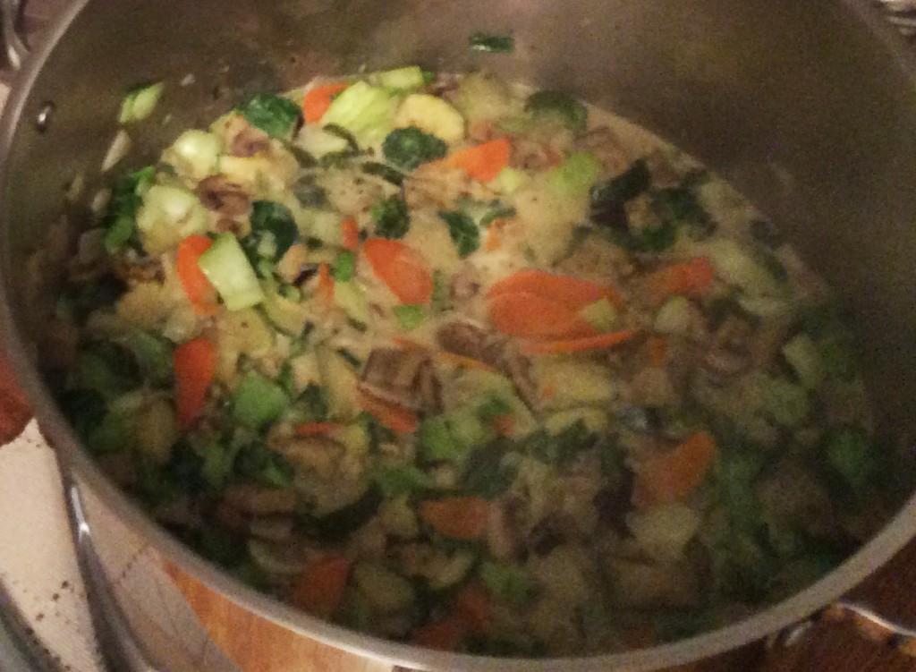 Zucchini Eggplant Green Curry Recipe with Quinoa