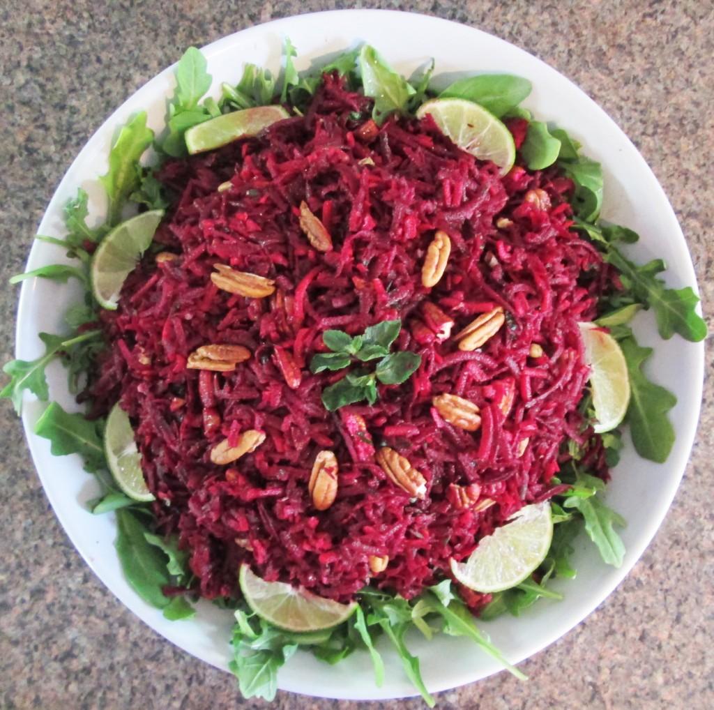 Beet and Pecan Salad on Arugula Recipe
