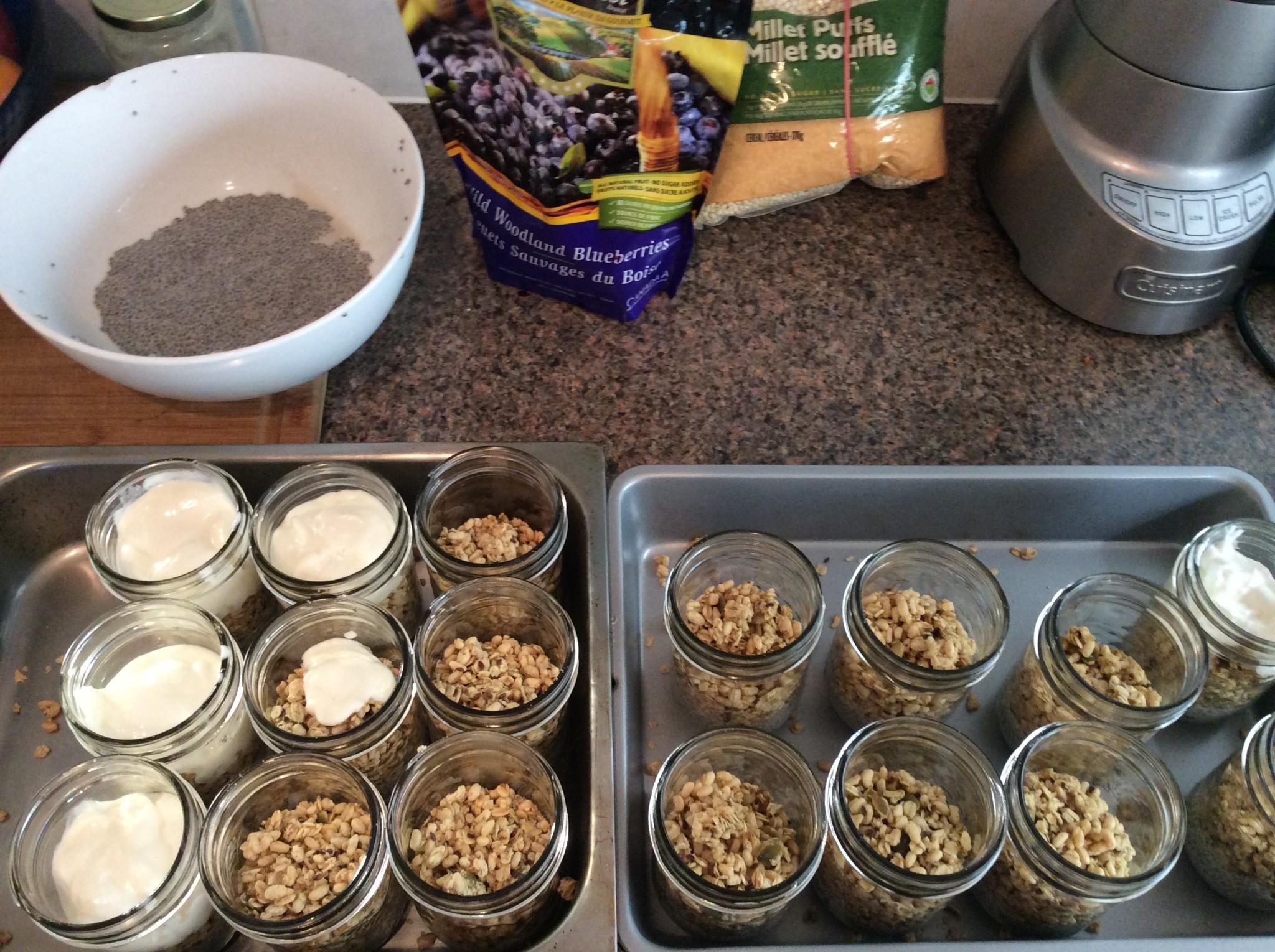 Granola Chia Breakfast Parfaits Recipe being made