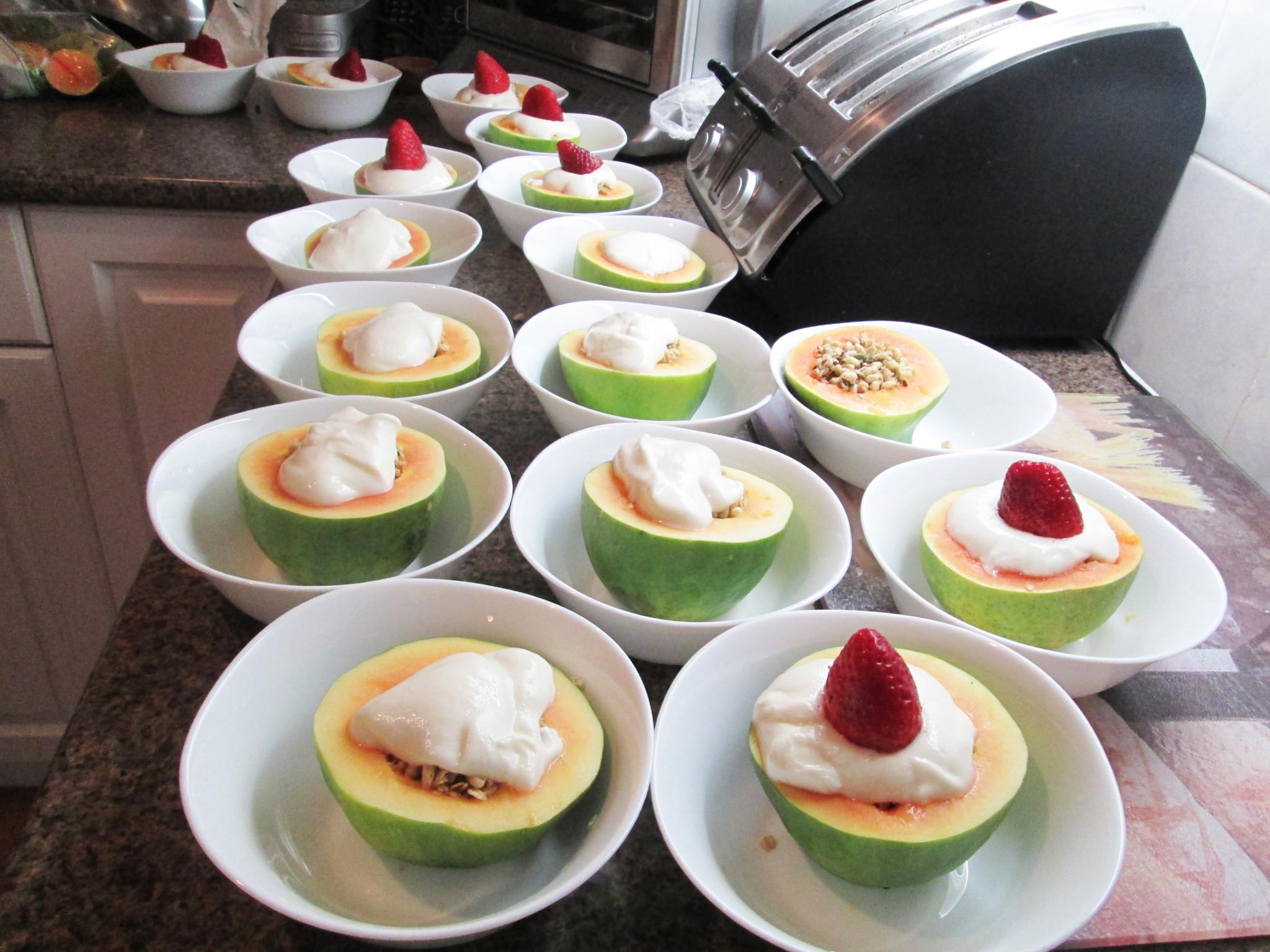 Granola Papaya Bowls